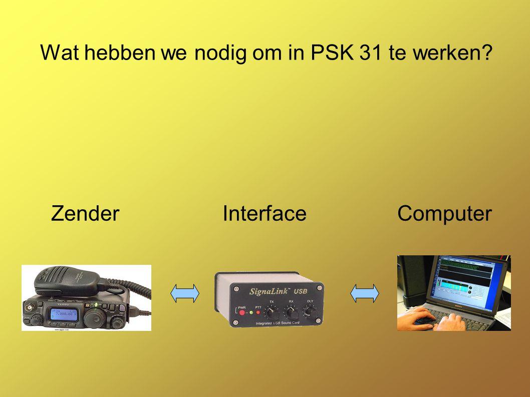 Wat hebben we nodig om in PSK 31 te werken