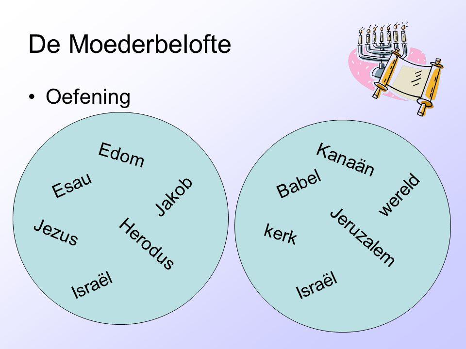 De Moederbelofte Oefening Edom Kanaän Esau Babel Jakob wereld