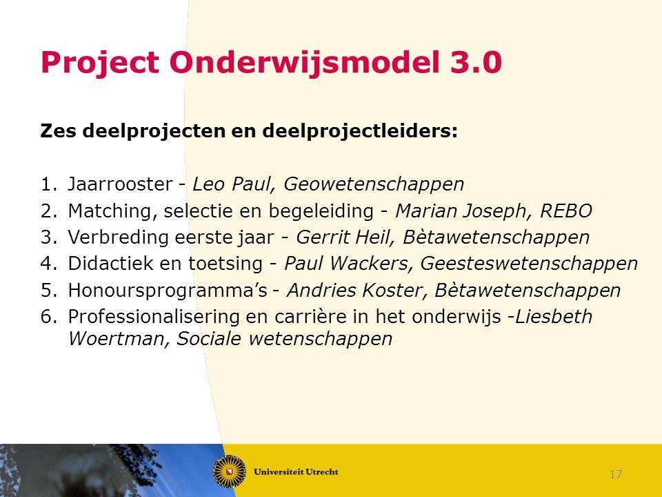 Project Onderwijsmodel 3.0