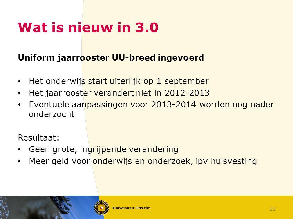 Wat is nieuw in 3.0 Uniform jaarrooster UU-breed ingevoerd