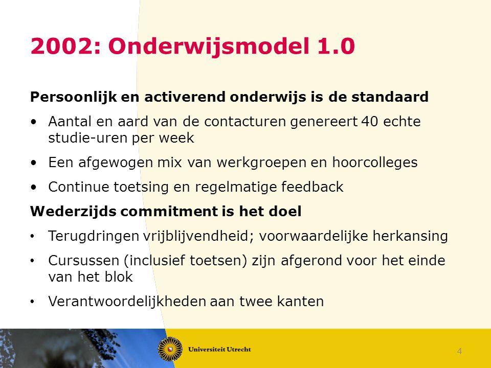 2002: Onderwijsmodel 1.0 Persoonlijk en activerend onderwijs is de standaard.