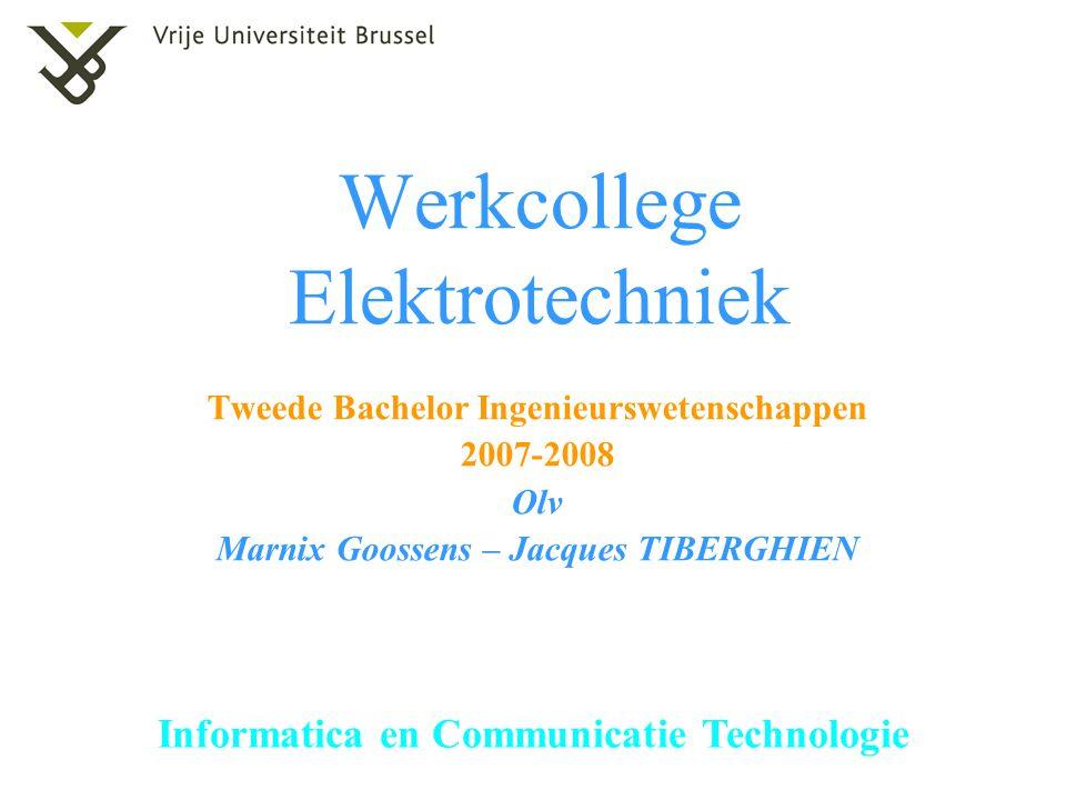 Werkcollege Elektrotechniek