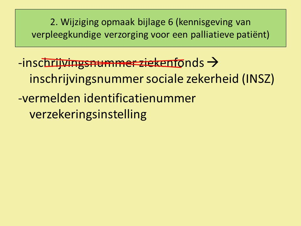 -vermelden identificatienummer verzekeringsinstelling