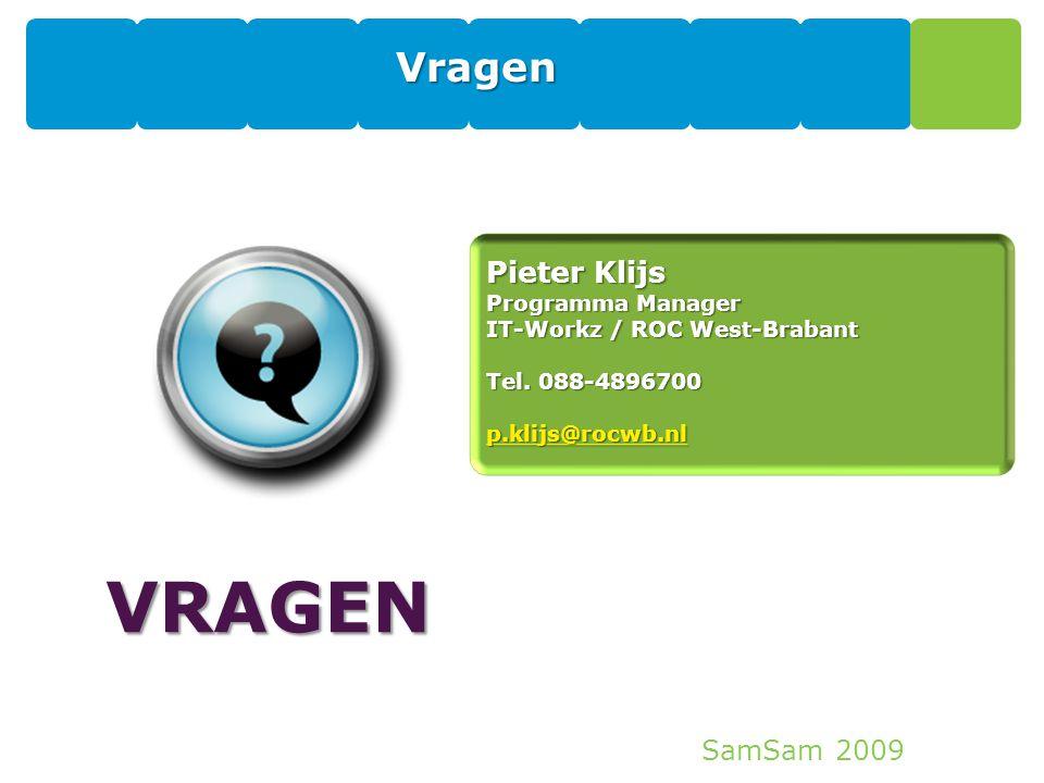 VRAGEN Vragen Pieter Klijs