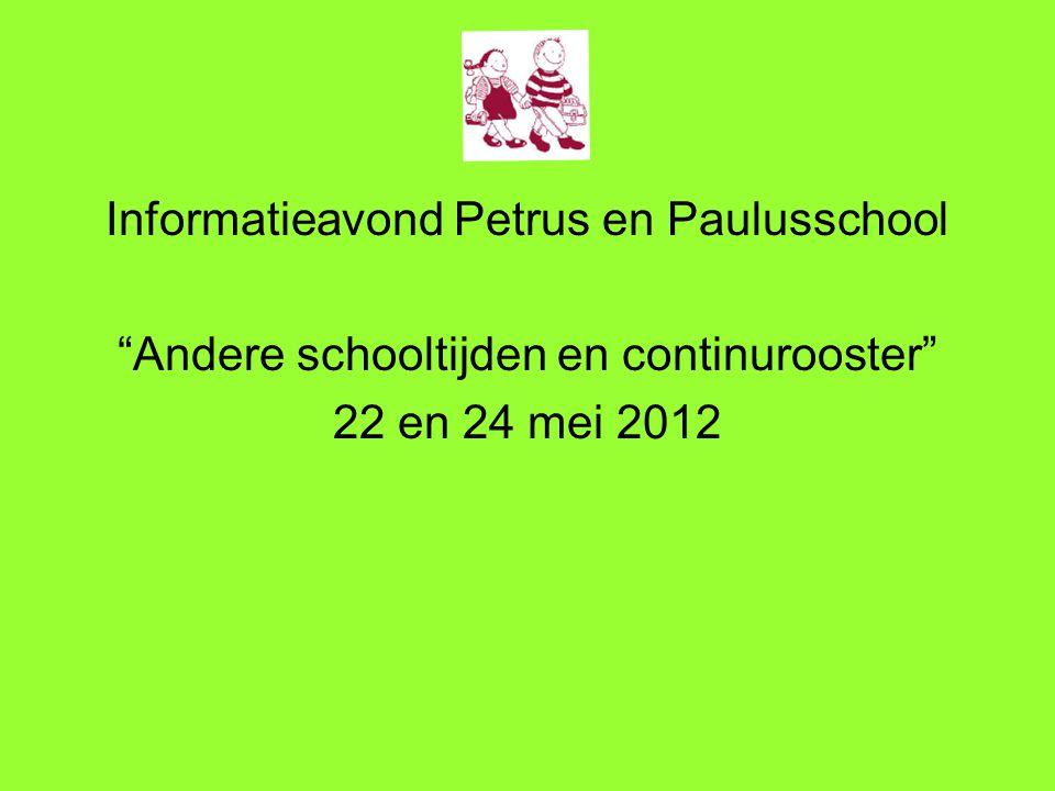 Informatieavond Petrus en Paulusschool