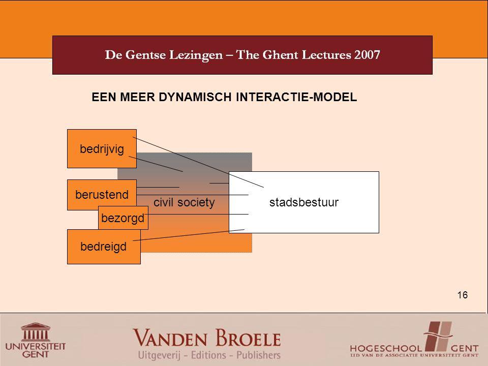EEN MEER DYNAMISCH INTERACTIE-MODEL