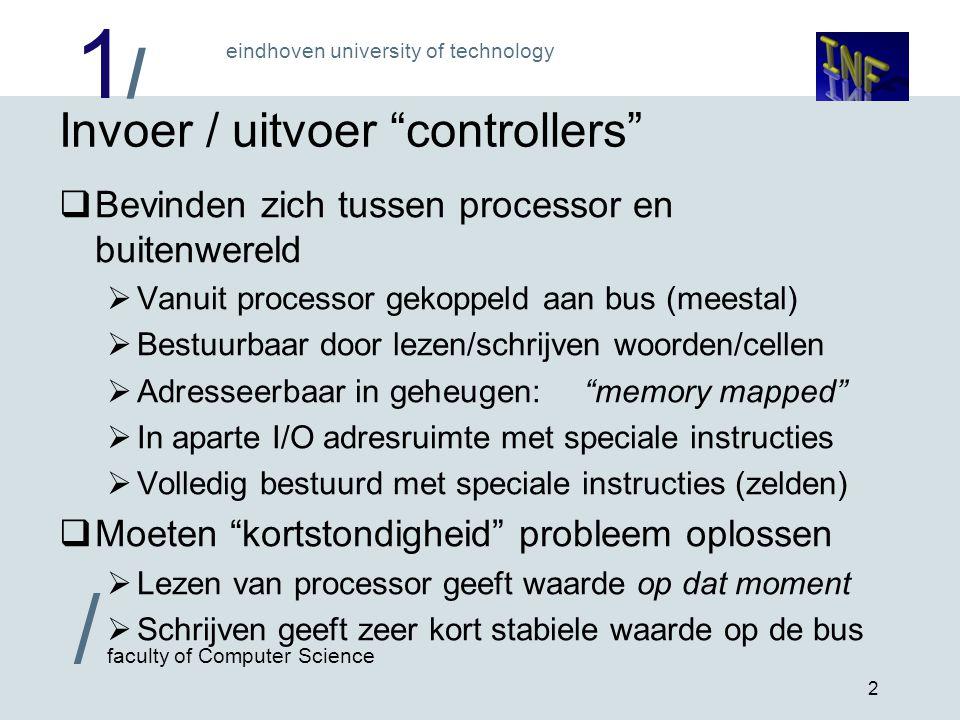 Invoer / uitvoer controllers