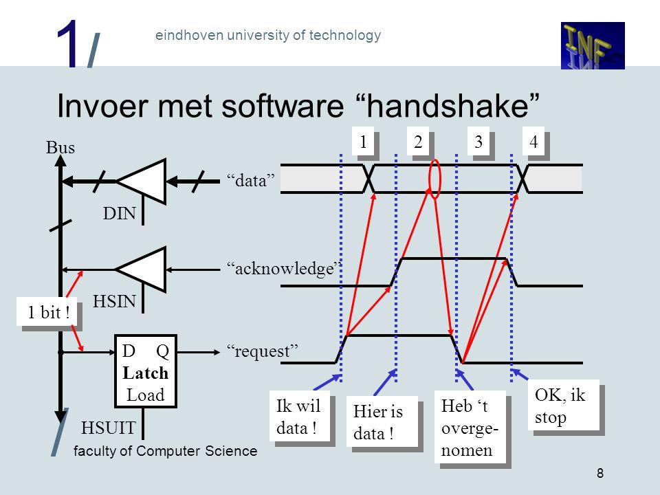 Invoer met software handshake