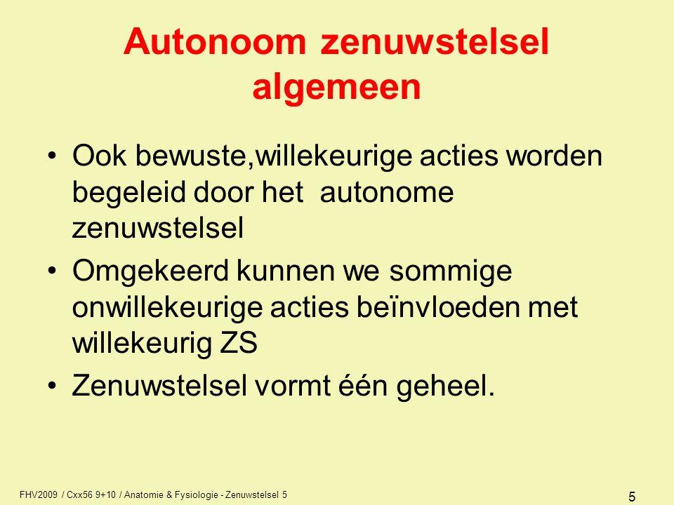 Autonoom zenuwstelsel algemeen