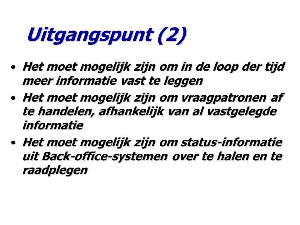 Uitgangspunt (2) Het moet mogelijk zijn om in de loop der tijd meer informatie vast te leggen.