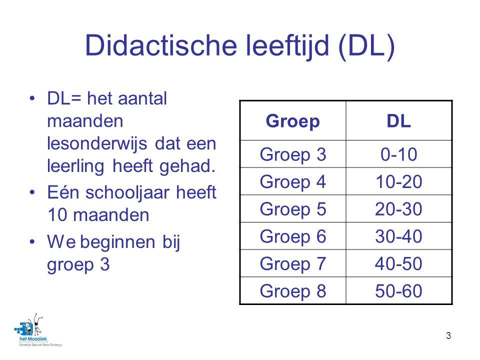 Didactische leeftijd (DL)