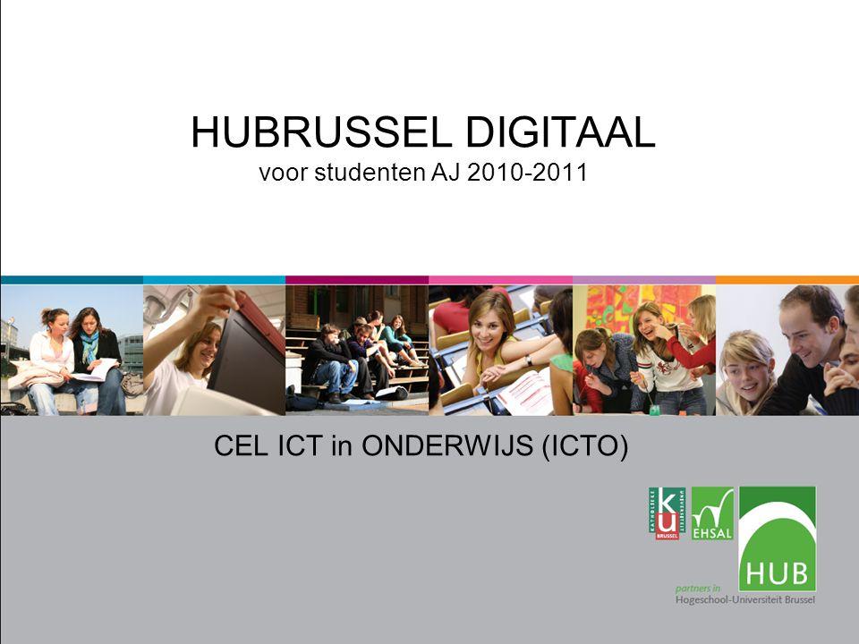 HUBRUSSEL DIGITAAL voor studenten AJ 2010-2011