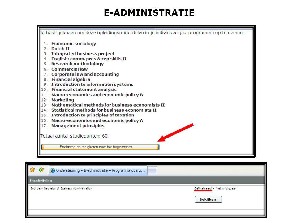 E-ADMINISTRATIE