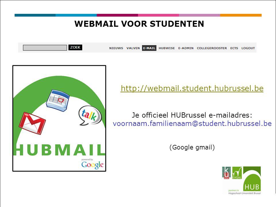 WEBMAIL VOOR STUDENTEN