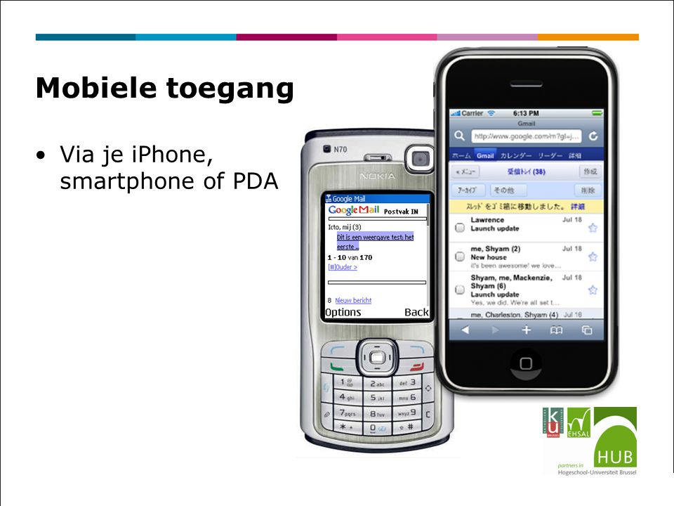 Mobiele toegang Via je iPhone, smartphone of PDA