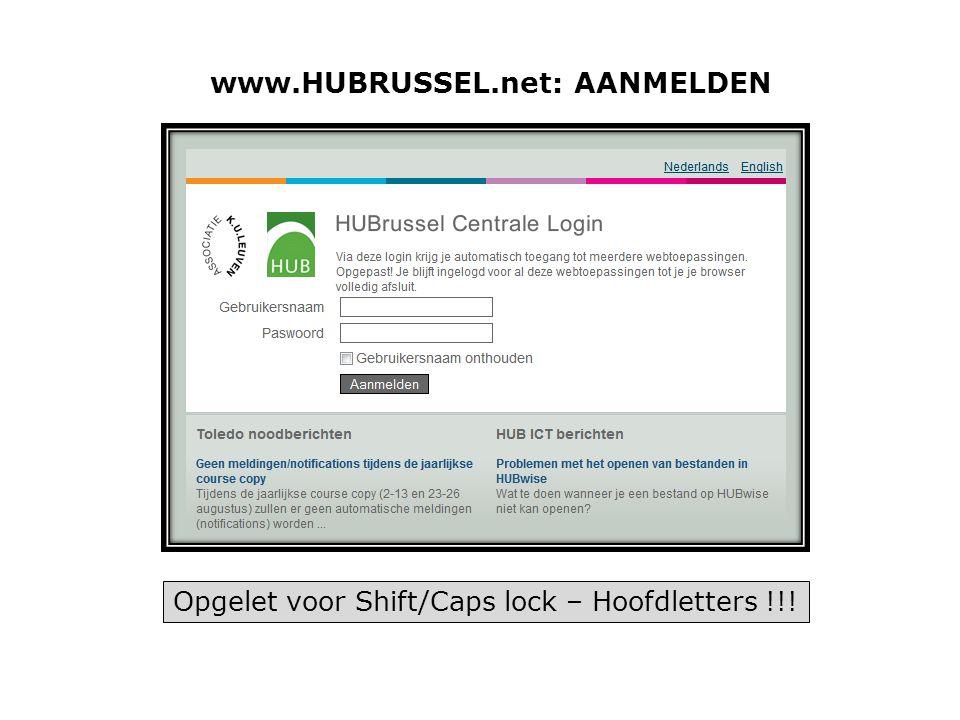 www.HUBRUSSEL.net: AANMELDEN