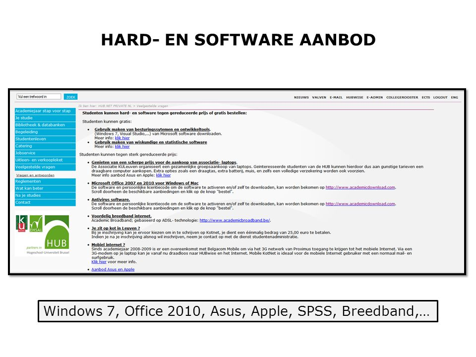 HARD- EN SOFTWARE AANBOD