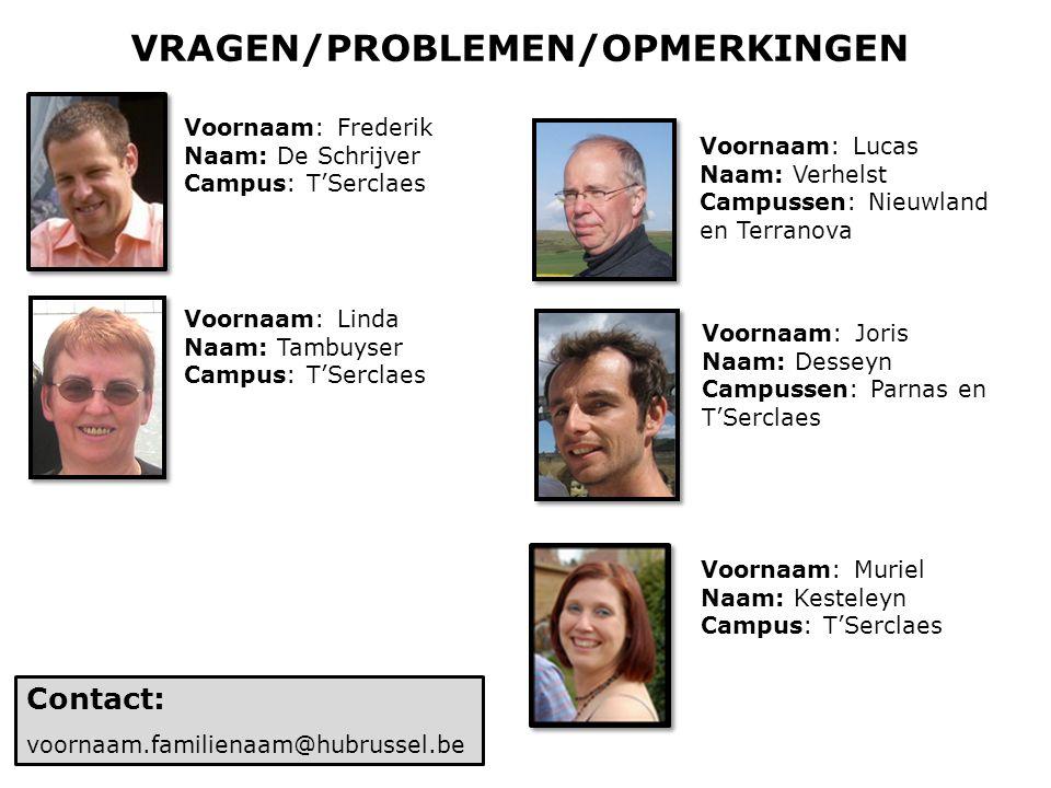 VRAGEN/PROBLEMEN/OPMERKINGEN