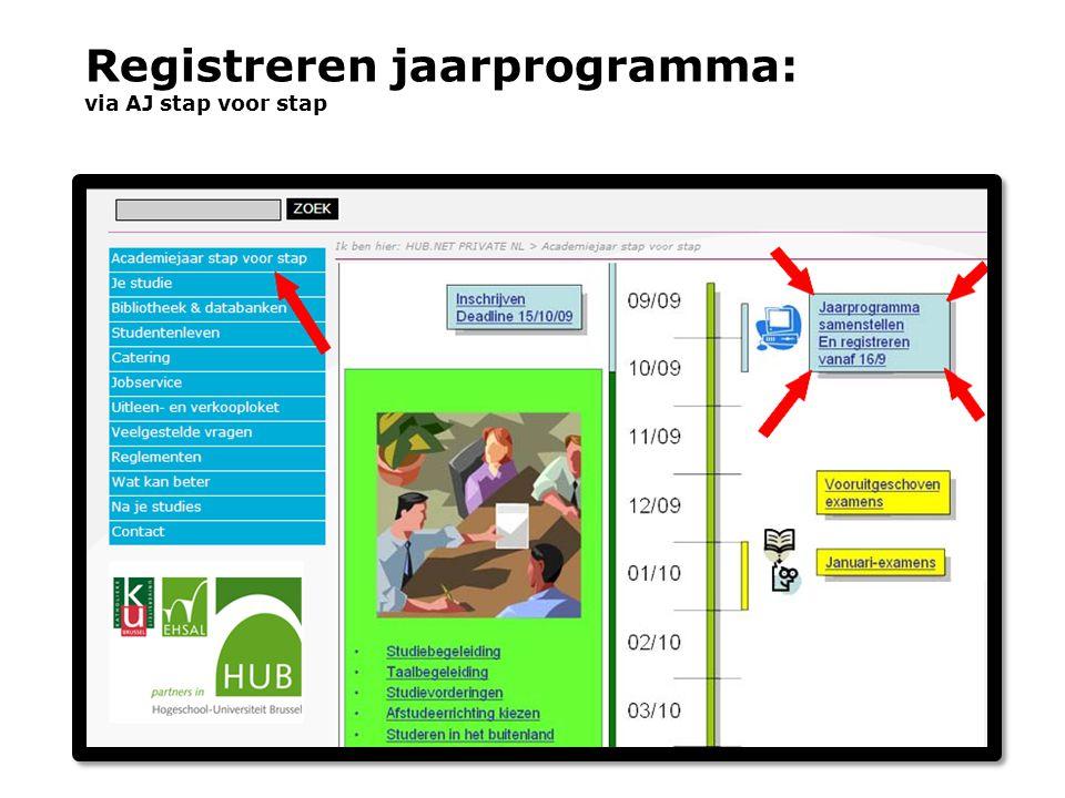 Registreren jaarprogramma: via AJ stap voor stap