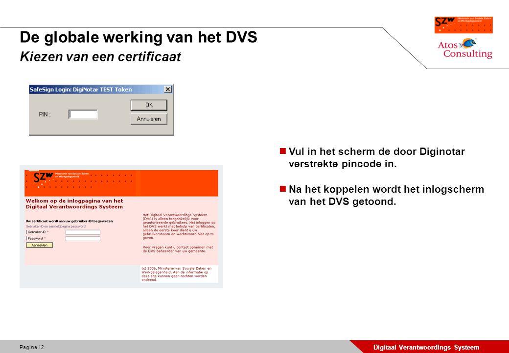 De globale werking van het DVS Kiezen van een certificaat