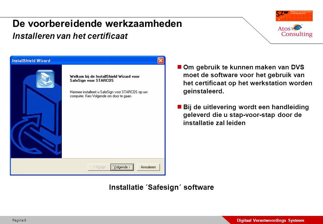 De voorbereidende werkzaamheden Installeren van het certificaat