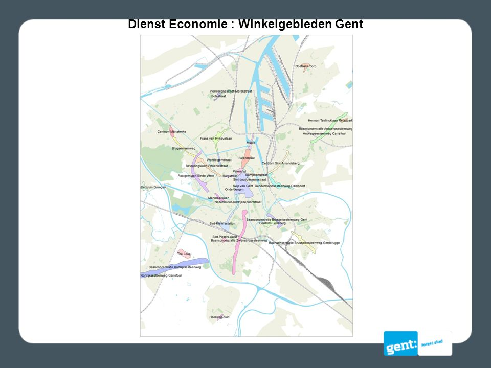 Dienst Economie : Winkelgebieden Gent