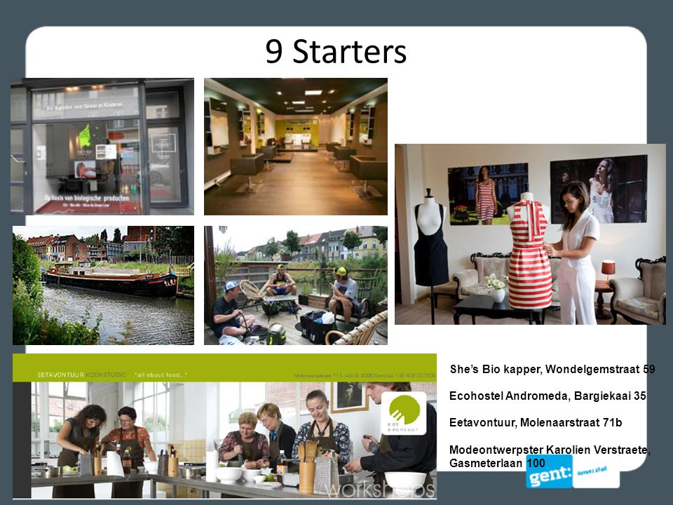 9 Starters She's Bio kapper, Wondelgemstraat 59