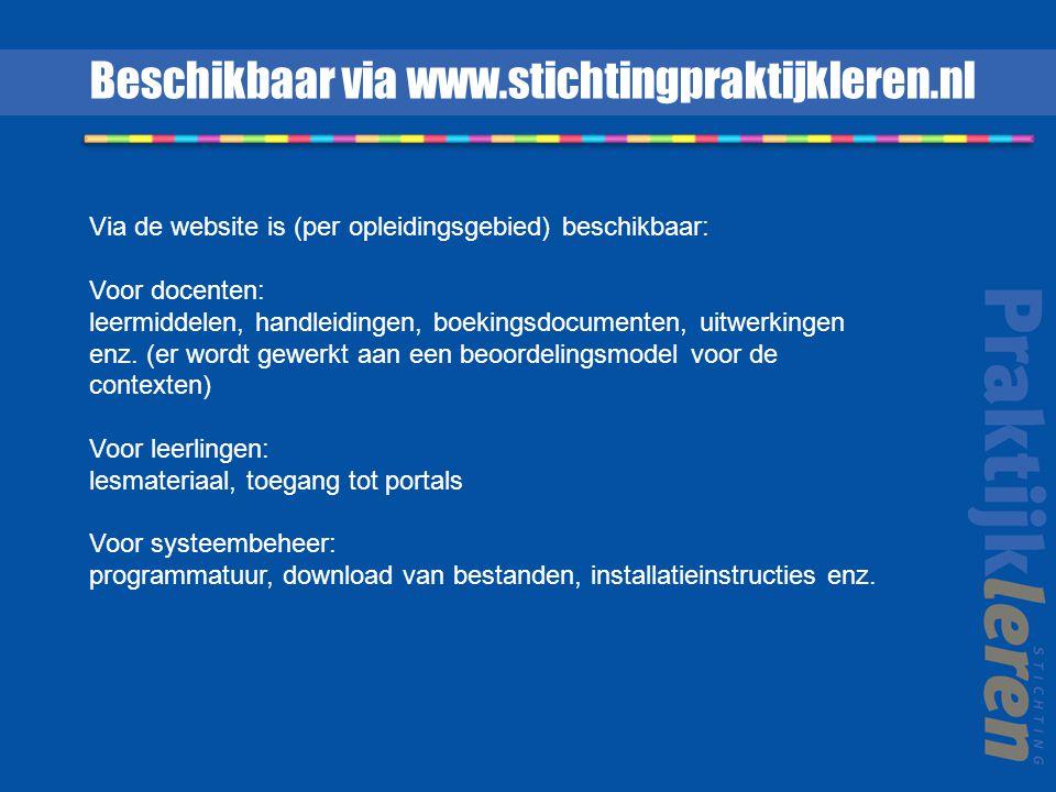 Beschikbaar via www.stichtingpraktijkleren.nl
