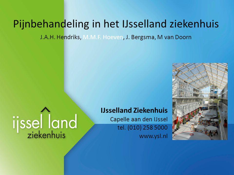 Pijnbehandeling in het IJsselland ziekenhuis