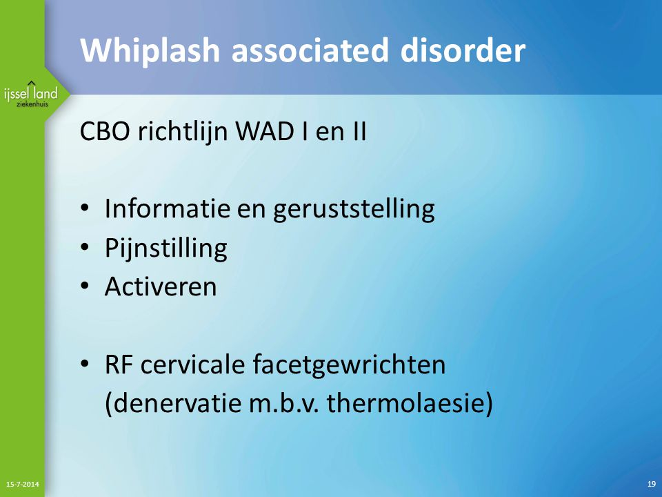 Whiplash associated disorder