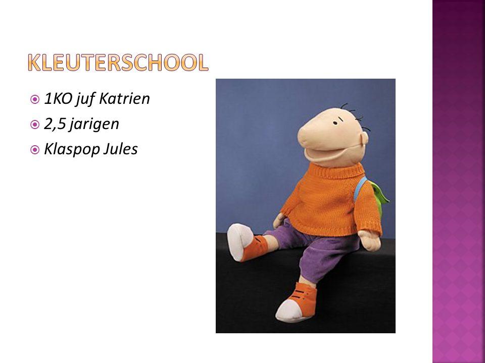 Kleuterschool 1KO juf Katrien 2,5 jarigen Klaspop Jules
