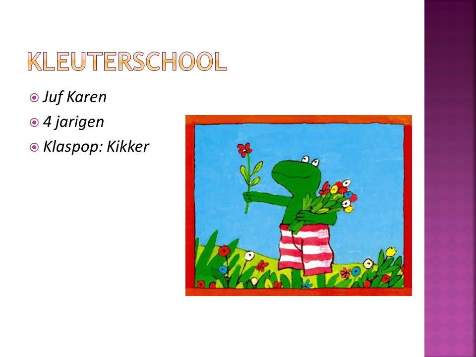 kleuterschool Juf Karen 4 jarigen Klaspop: Kikker