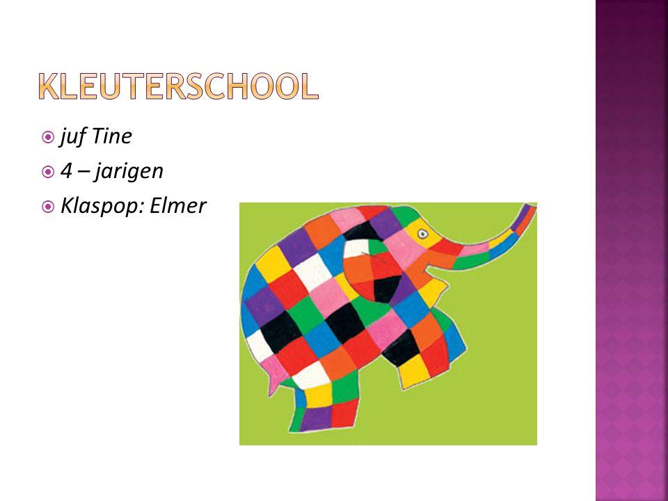 kleuterschool juf Tine 4 – jarigen Klaspop: Elmer