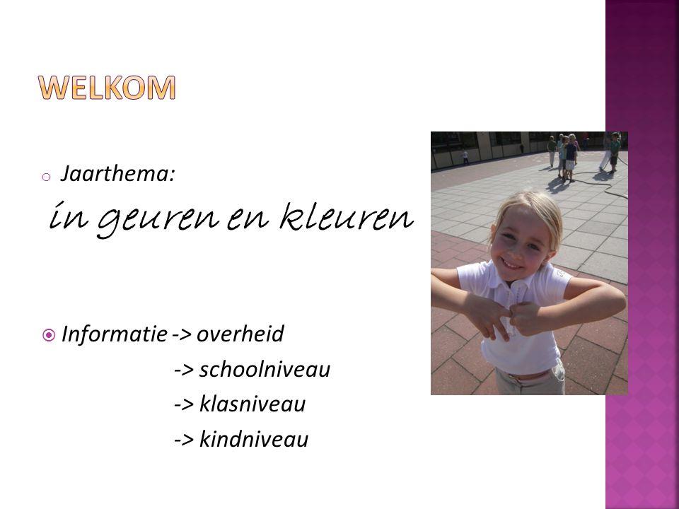 welkom Jaarthema: in geuren en kleuren Informatie -> overheid
