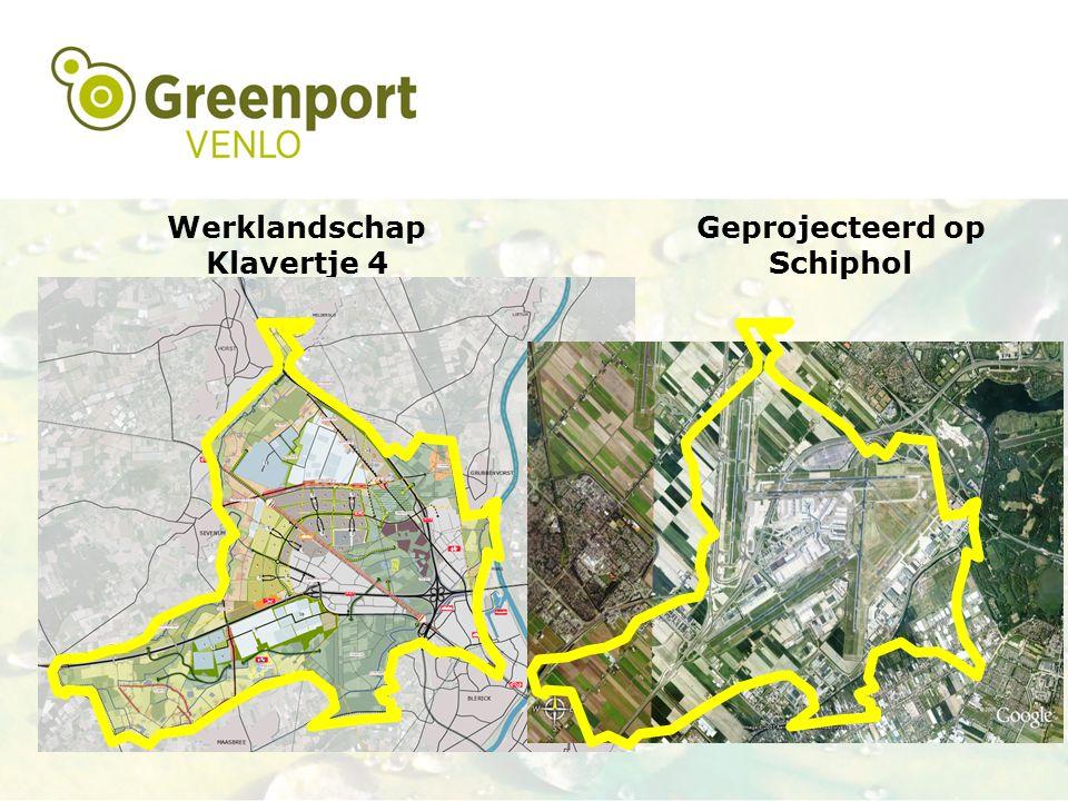 Werklandschap Klavertje 4 Geprojecteerd op Schiphol