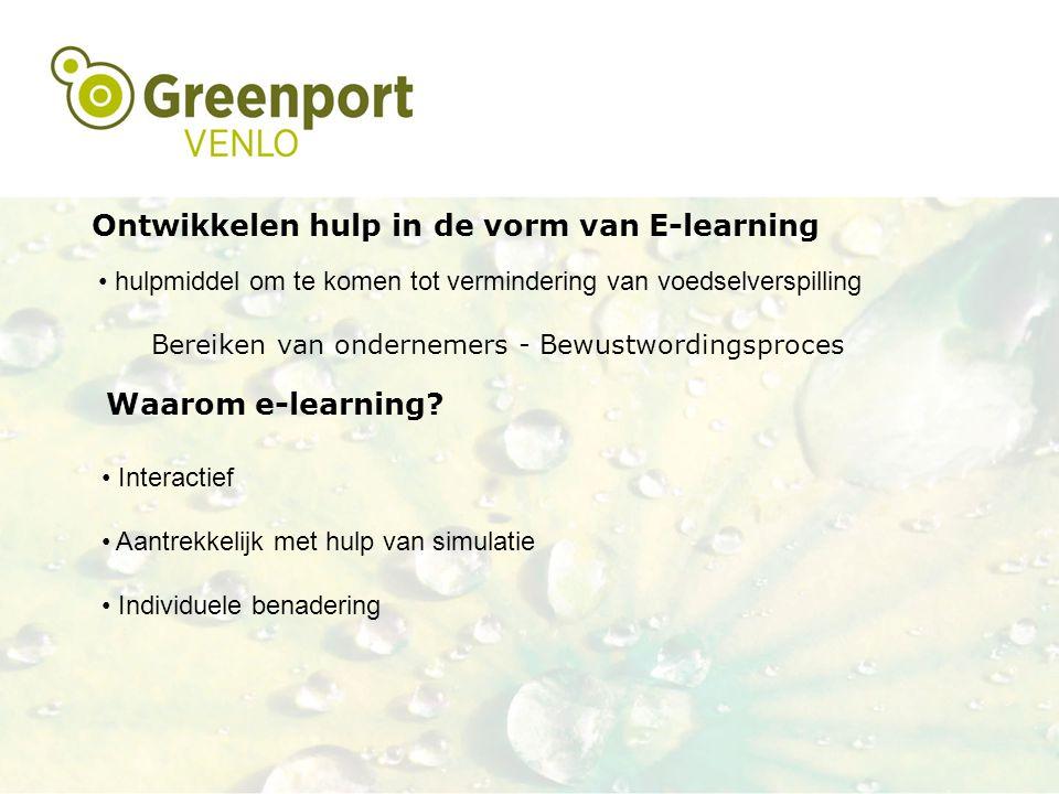Ontwikkelen hulp in de vorm van E-learning