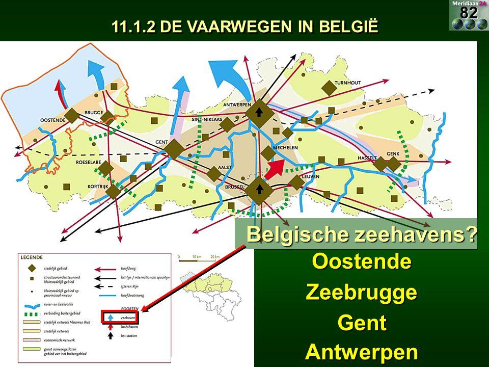 Belgische zeehavens Oostende Zeebrugge Gent Antwerpen