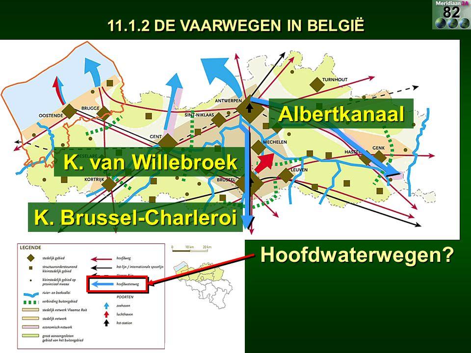 Albertkanaal K. van Willebroek K. Brussel-Charleroi Hoofdwaterwegen