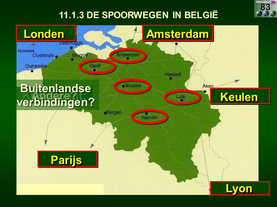 11.1.3 DE SPOORWEGEN IN BELGIË Buitenlandse verbindingen