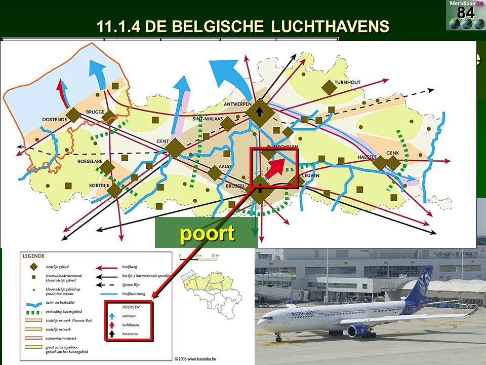 11.1.4 DE BELGISCHE LUCHTHAVENS Belangrijkste luchthaven: