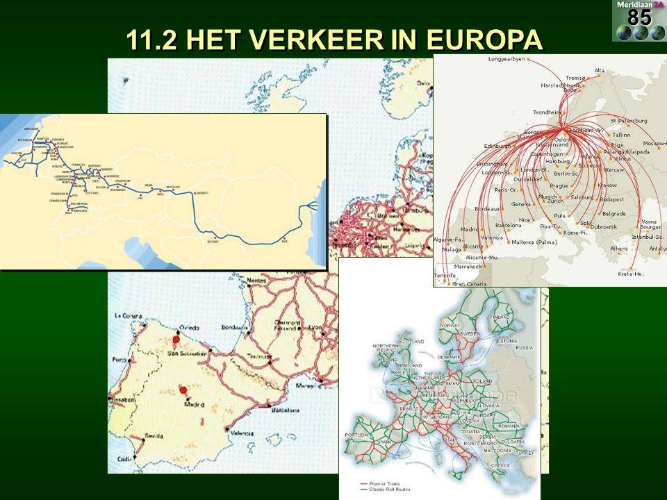 85 11.2 HET VERKEER IN EUROPA