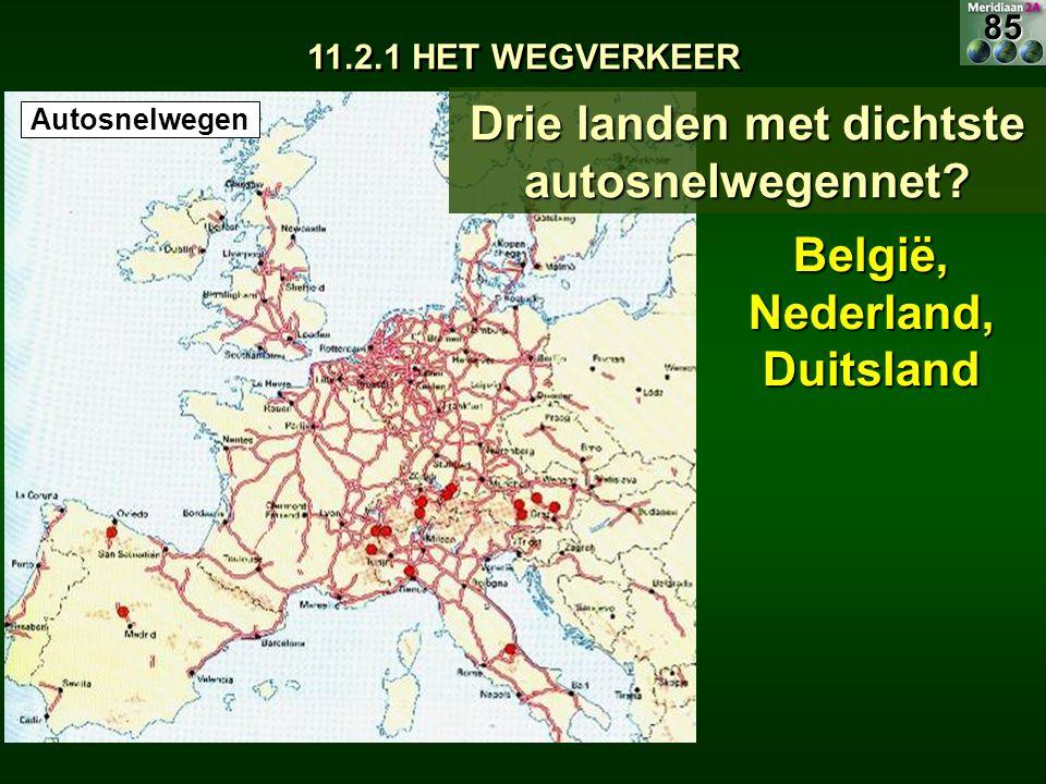 Drie landen met dichtste autosnelwegennet