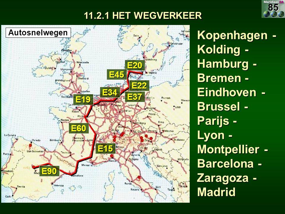 85 11.2.1 HET WEGVERKEER. Autosnelwegen.