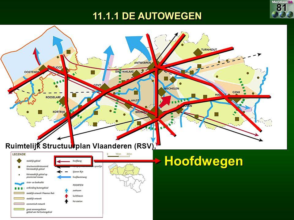 Hoofdwegen 81 11.1.1 DE AUTOWEGEN