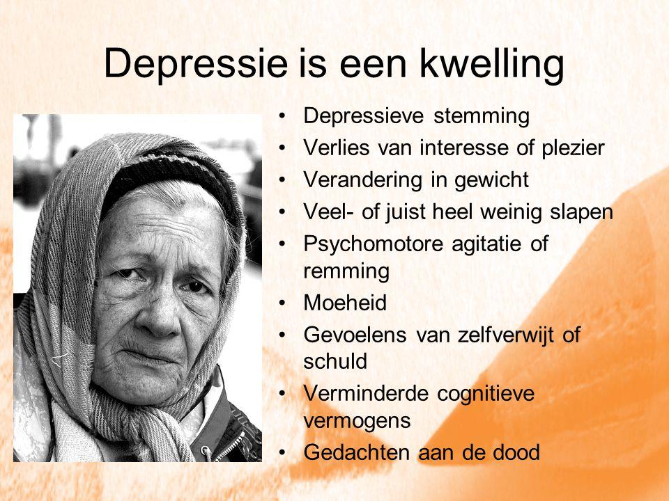 Depressie is een kwelling