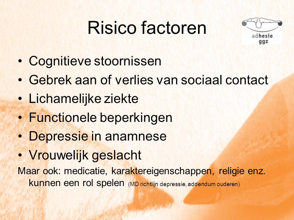 Risico factoren Cognitieve stoornissen