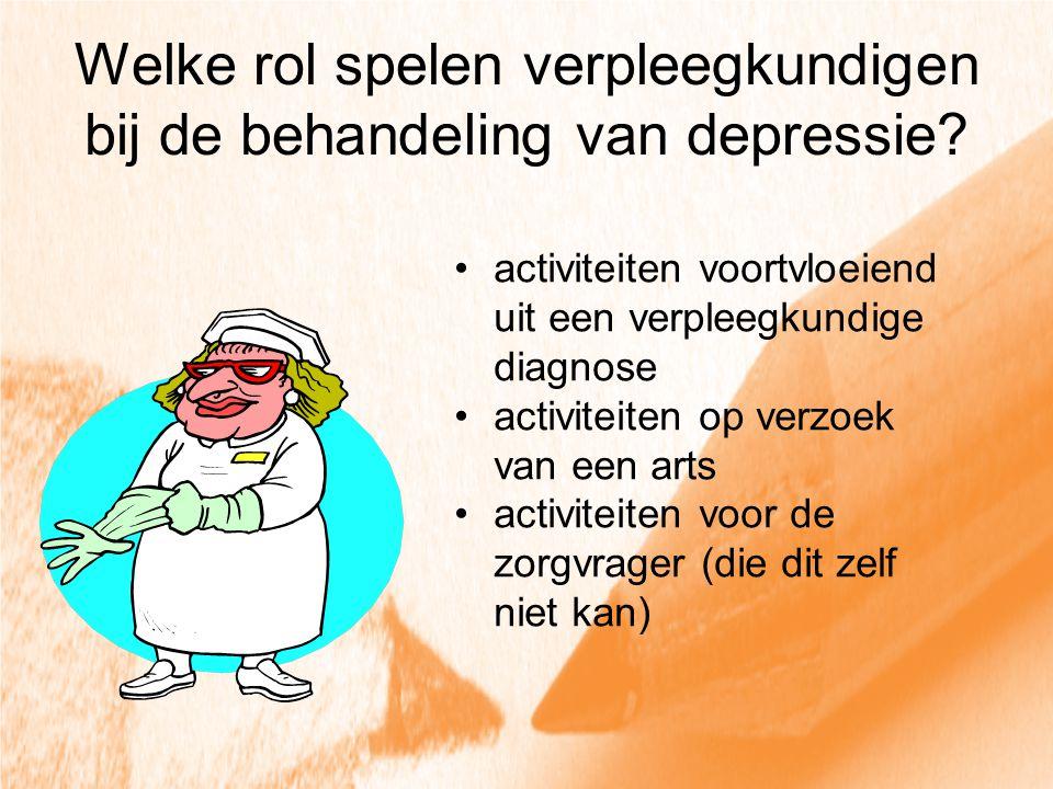 Welke rol spelen verpleegkundigen bij de behandeling van depressie