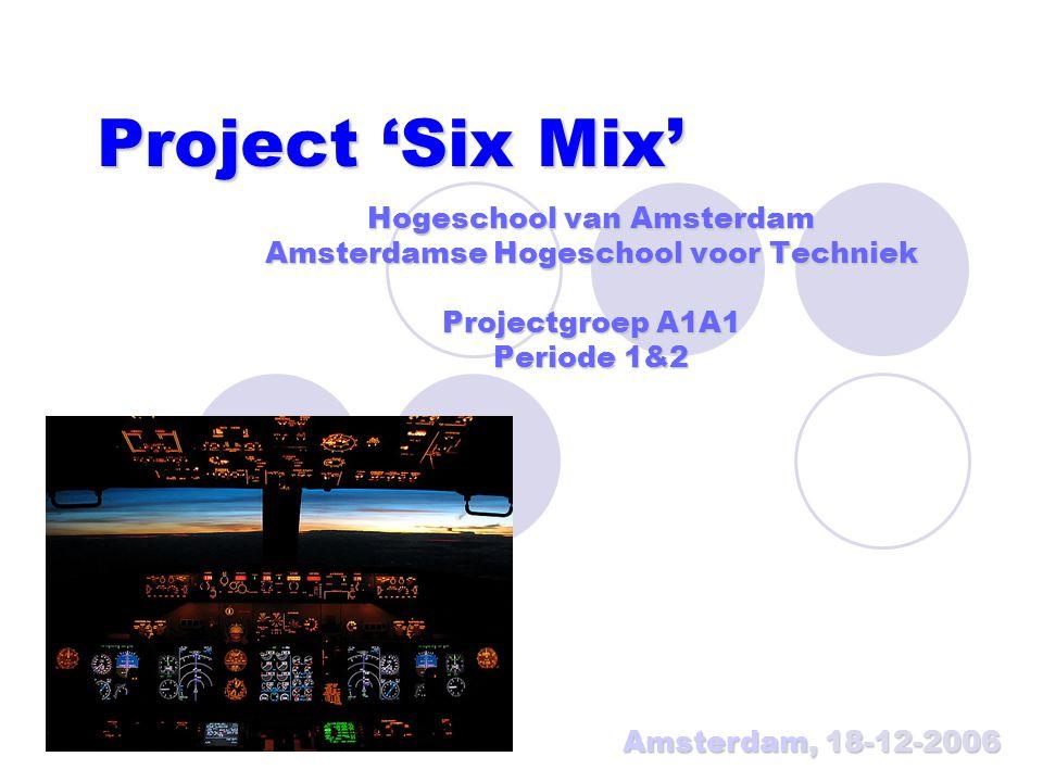 Project 'Six Mix' Hogeschool van Amsterdam