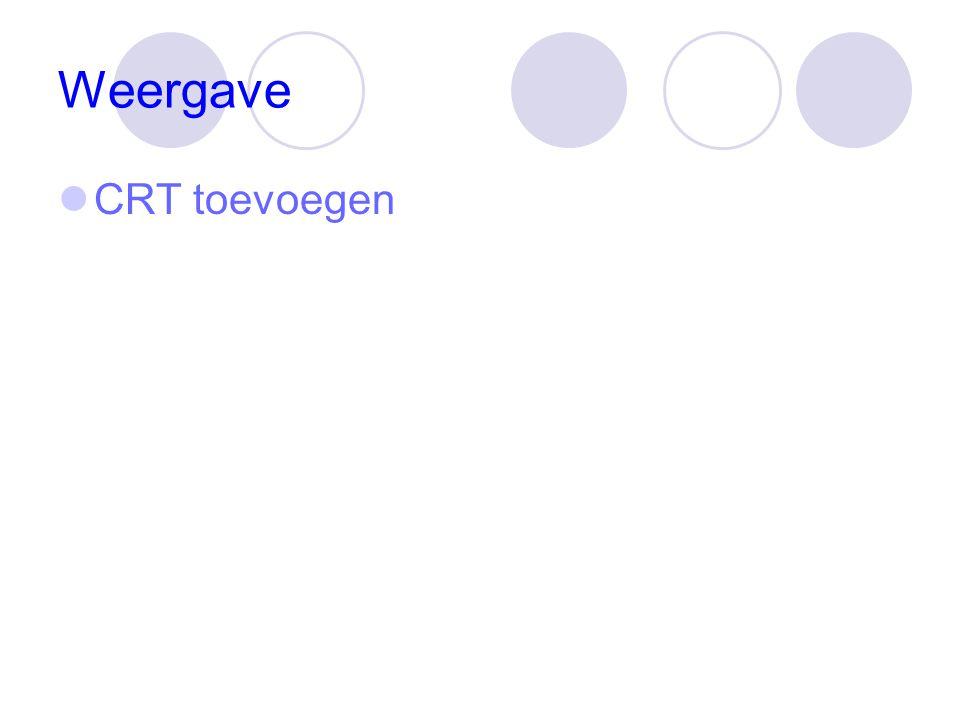 Weergave CRT toevoegen