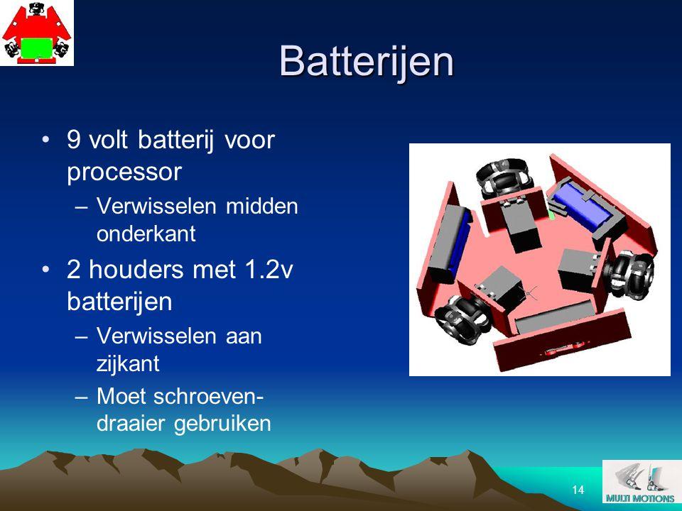Batterijen 9 volt batterij voor processor